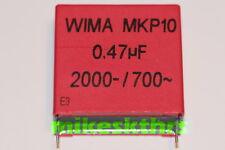 FK.35   2x WIMA MKP10 Polypropylen Kondensator 470nF-2000- 700~ 0,47µF Rm 37,5mm