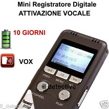 MICRO REGISTRATORE VOCALE 8 GB SPY  SPIA  VOICE RECORDER digital AMBIENTALE USB