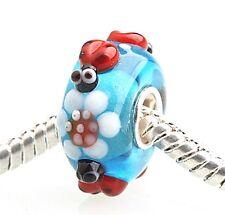 1 High Glas Bead für Armband - Kette* Perlen für Modularmband * Marienkäfer