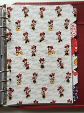 Filofax A5 Organiser Planner - Bright Minnie Mouse Dividers x6 - Fully Laminated