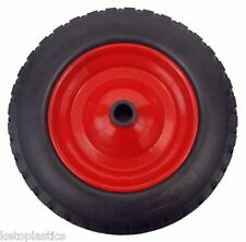 "PU 16"" METAL Puncture Proof SOLID Wheel Barrow Tyre 4.80 - 8 WITH 20MM BORE"