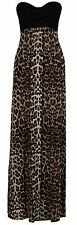 New Womens Plus Size Grecian Boob Animal Print Long Maxi Dress 8-26