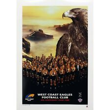 WEST COAST EAGLES OFFICIAL AFL 1996 TEAM POSTER FULL COLOUR 500mm x 700mm (RARE)