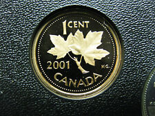 2001 Canadian Proof Penny One Cent - 1 cent