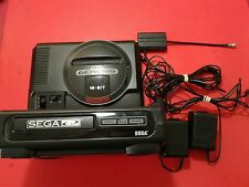 Sega CD Model 1 & Sega Genesis Model 1 [Front Loader, All Cables] Tested & Works