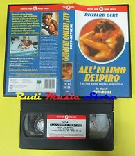 film VHS ALL'ULTIMO RESPIRO 1983 richard gere jim mcbride CECCHI GORI(F60)no dvd