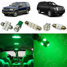 10x Green LED lights interior package kit for 2003-2013 Ford Expedition FE1G
