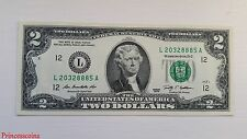 LUCKY RARE*SERIAL NUMBER SOLID 8885 UNCIRCULATED $2 TWO DOLLAR BILL UNC-