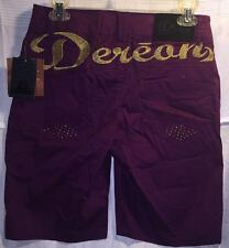 NWT Beyonce Dereon Purple Plum Shorts Size 9 / 10 Embroidered & Bling