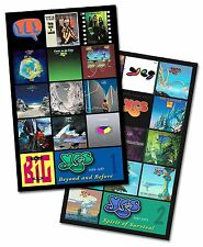 """YES twin pack album cover discography magnet set (4.75"""" x 3.75"""") genesis rush"""