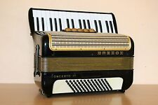 Accordion Hohner Concerto III 72 bass Akkordeon Fisarmonica + Case Free Shipping