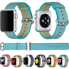 Sports Royal Woven Nylon Wrist Band Strap Bracelet For Apple Watch 1 2 38mm/42mm