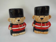 London Queens Guardsman Novelty Pair Of Teddy Bear Egg Cups