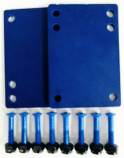 "Set of 1/8"" Skateboard Riser Pads & 1"" Hardware Screws - Blue"