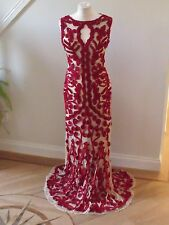 BNWT PHASE EIGHT Mayfair Red Tapework long  dress size12-Collection 8-RRP£295