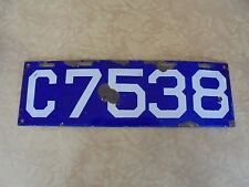 1913 Connecticut PORCELAIN License Plate 13 CT Tag  C7538