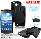 Samsung Galaxy S4 Active S Curve Slim Soft Silicone Rubber Gel Back Cover Case