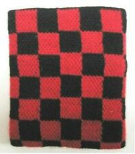Unisex Black and Red Checkered Wristband/Sweatband - Brand New