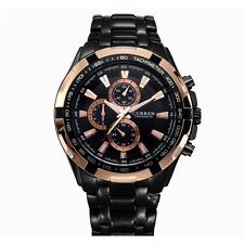 Curren Solid Alloy Black Chain Analog Watch - For Men!!