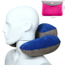 Inflatable U Shape Pillow Neck Head Rest Air Cushion for Travel Office Plane