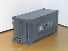 LEGO MAERSK LINE TRAIN SHIP SHIPPING CONTAINER DARK GREY