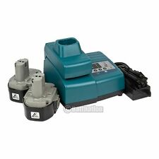 New 2 18V 3.0AH NI-MH batteries & 1 charger for Makita 1833 1822 1834 192828-1