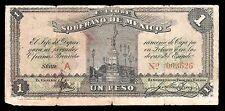 Estado Libre y Soberano de Mexico 1 Peso 3.01.1915, M2811a / SI-MEX-11 Fine