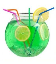 Plastic Punch Cocktail Sweet Candy Dish Bowl 3 Litres Round Fishbowl Style