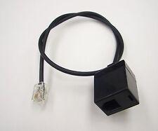 """15"""" RJ9 4P4C Male Plug to RJ9 Modular Female Connector Handset Adapter Splitter"""