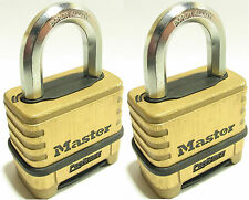 Combination Lock Set By Master 1175 (Lot of 2) Resettable Brass Sealed Carbide