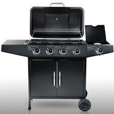 Edelstahl Gasgrill Grill Grillwagen Barbecue BBQ 4+1 mit Temperaturanzeige Neu