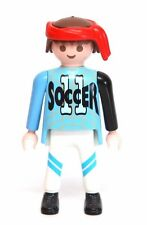 "Playmobil Figure Sports Soccer Player w/ ""11"" Jersey Red Head Wrap 3868"