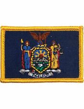 """New York 2"""" x 3"""" Flag (N-S-NY1) with Gold Border"""