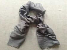 BRAND NEW - 100% Raw Silk Fair Trade Scarf - GREY