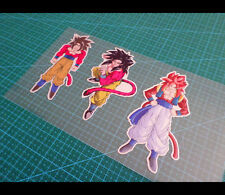 3 Pics Goku ss4 DRAGON BALL JDM CAR / NOTEBOOK Reflective Decal Sticker #002
