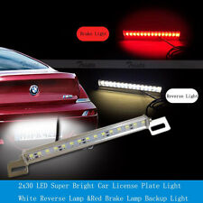 30 LED 7W Car License Plate Lamp White Reverse Rear &Red Tail Brake Backup Light
