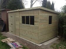 10 x 6 Pent shed / fully pressure treated