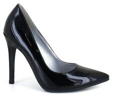 Size11M Black Patent High Heel Pump Stiletto Pointed Toe Drag Queen/Crossdresser