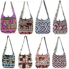 Hippie Canvas Thai Boho Beach Travel Sling Crossbody Bags WHOLESALE DEAL 10 PCS