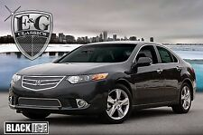 2011-2014 Acura TSX 2pc Fine Mesh Grille - Black Ice - Mirror Stainless Steel