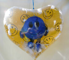 Heart Shaped Inflate Blowup With Hanging Smiley Face Inside-Valentine Gift -Love