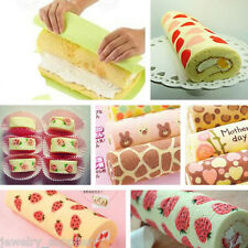 1x Silicone Roll Cut Mat Rolling Cutting Pad Swiss Fondant Cake Dough Mold Maker