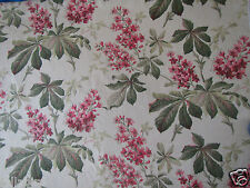 "SANDERSON CURTAIN FABRIC DESIGN ""Pavia"" 4.4 METRES 100% LINEN RUBY/EMERALD"