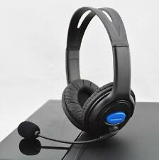 New Wired Gaming Stereo Headset Earphone For Sony PS4 W/VOL Superbass Black