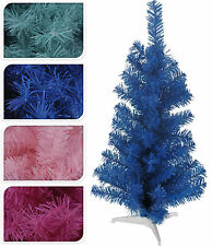 Pretty Mini Desk Top Office Bedroom Tinsel Christmas Tree  3 Sizes 4 Fun Colours