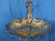 ART NOUVEAU WMF Silverplate Dragonfly Handled Basket Tray
