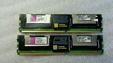 Lot of 2 x 8GB (16GB total) Kingston 2Rx4 PC2-5300F FB-DIMM DDR2 RAM - F1G72F51