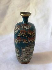 Antique Japanese Cloisonne , Flowers , Maples, Iris , Signed