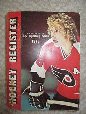 1973 Hockey Register by The Sporting News - Bobby Clarke cover, Orr, 584 pages