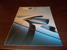 2001 BMW 3-Series Convertible Deluxe 78-Page Sales Catalog